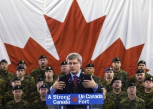Harper troops