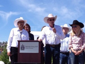 Devinder Shory, Joe Oliver, Michelle Rempel, and Danielle Smith. (Thanks to MC for the photo)