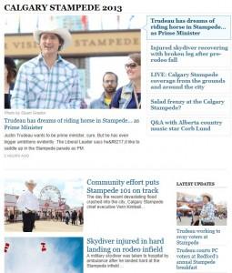 trudeau stampede headlines