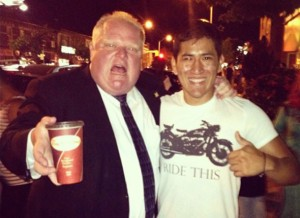 Tim Hortons provides the ultimate pick-me-up for a normally subdued Rob Ford