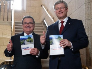 Jim-Flaherty-and-Stephen-Harper-ahead-of-the-tabling-of-Budget-2014